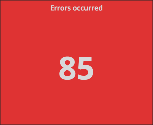 Counter showing how many errors have occurred